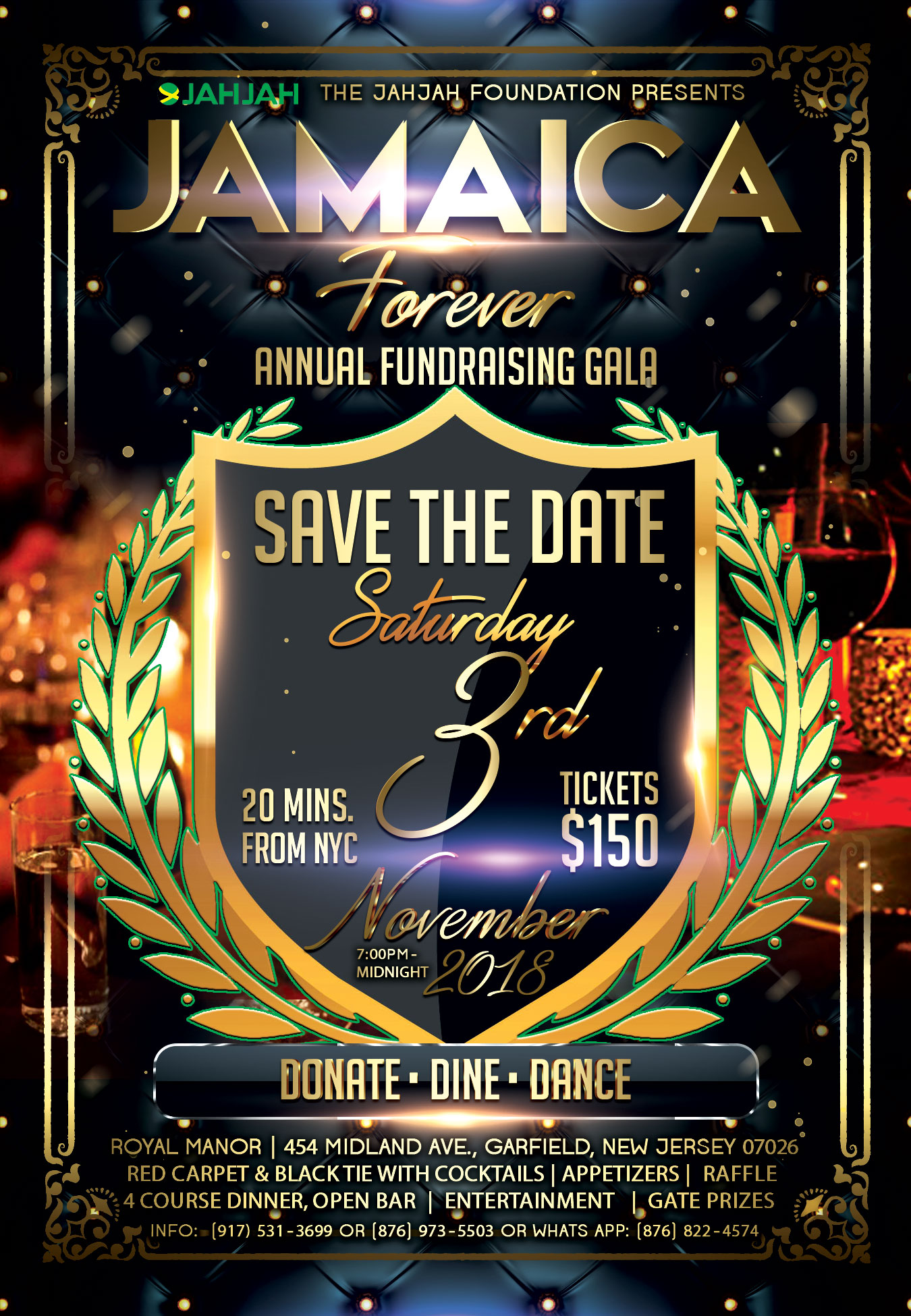 Nov  3, 2018 Black Tie Dinner | Jamaica Forever Welcome to